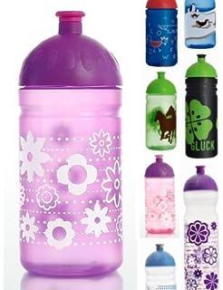 ISYbe – Botella, fugas, apta para lavavajillas), diseño de morado flores morado