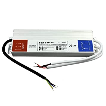 100 W, 120 W.150 W LED transformador de alimentación DC 12 V para bombillas LED - cinta de sellado 150.00W, 12.00V: Amazon.es: Bricolaje y herramientas