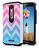 NageBee Hybrid Case Compatible with Motorola Droid Turbo 2, XT1585 / Moto X Force (2015) XT1580 Design Premium [Heavy Duty] Defender [Dual Layer] Protector Hybrid Case - Wave
