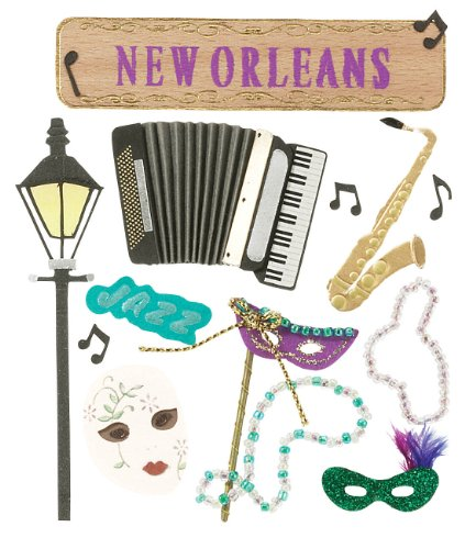 Jolee's Boutique New Orleans - Scrapbook Stickers New Sticky