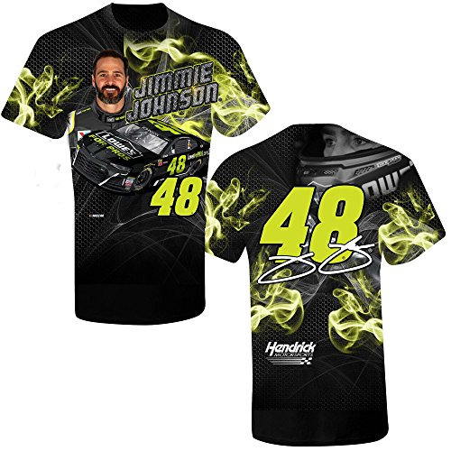 SMI Properties Youth Jimmie Johnson 2018 Lowe's Sublimated Prism NASCAR T-Shirt (Youth XLarge)