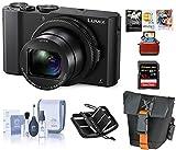 "Panasonic Lumix DMC-LX10 Digital Camera, 20MP 1"" Sensor - Bundle with 32GB SDHC U3 Card, Camera Case, Cleaning Kit, Memory Wallet, Mac Software Package"