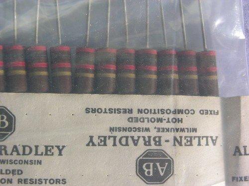 25 Allen Bradley RC42GF202J 2K 2W 5% Carbon Comp - Resistors Carbon 2w Comp