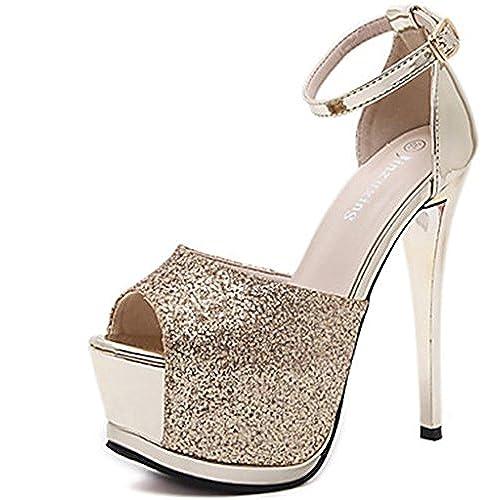 cdac0875 Lh$yu Sandalias de Mujer Tacones Primavera Club Zapatos Vestido De Tela  TacóN De Aguja