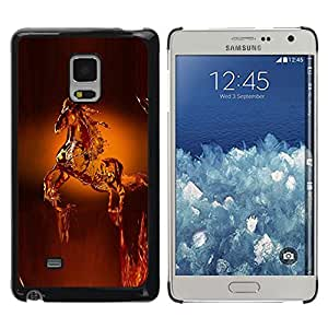 iKiki Tech / Estuche rígido - Horse Wax Art Statue Animals Crown - Samsung Galaxy Mega 5.8 9150 9152