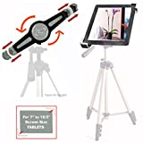 "AccessoryBasics ""Tai-G"" Tablet Tripod Mount (PERFECT for SELFIE AND PHOTOBOTH Recording) with 360° Rotation Swivel Support Joint for Apple iPad 2 3 4 / Air (NOT FOR MINI) Samsung Galaxy Tab Pro Google Nexus Asus VivoTab 9"" 10"" 11"" Screen tablets"
