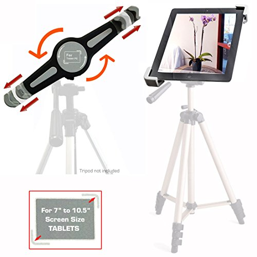 "AccessoryBasics ""TAI-G"" Tablet Tripod Mount w/360° Rotation for Apple iPad Air MINI &10inch Pro (not for 12"" ) Samsung Galaxy Tab S Google Nexus Asus VivoTab 7 8 9 10 (For 7"" to 10"" Screen Only)"