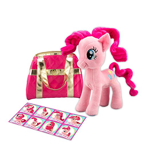 My Little Pony Stuffed Animal Gift Pack! MLP Pinkie Pie Plush Toy With Cute My Little Pony Purse. Talking My Little Pony, Large and Soft!