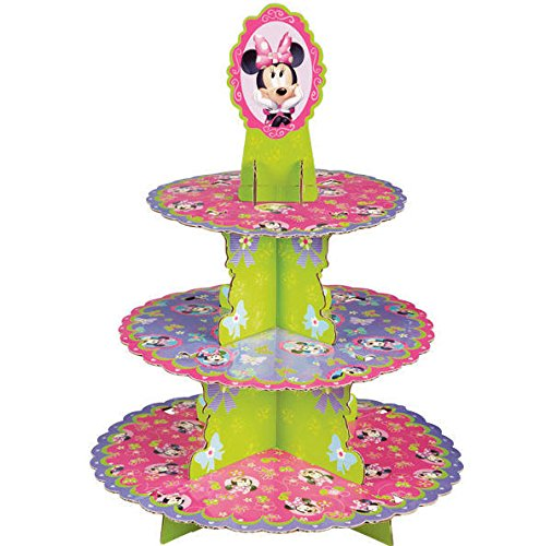 Disney Minnie Mouse 3 Tier Cupcake / Treat Stand Decoration - 1512-6363