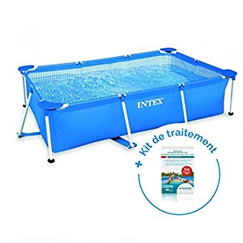 magasiner pour authentique nouvelle version liquidation à chaud RAVIDAY Pack Piscine Tubulaire Intex MetalFrame Junior 3 x 2 ...