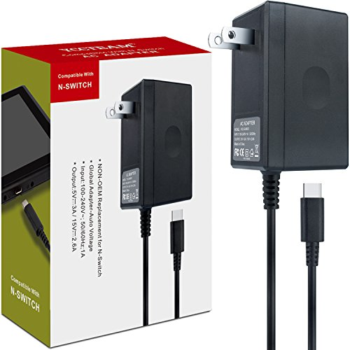 Best Adapters With Charging - AC Adapter Charger for Nintendo Switch,