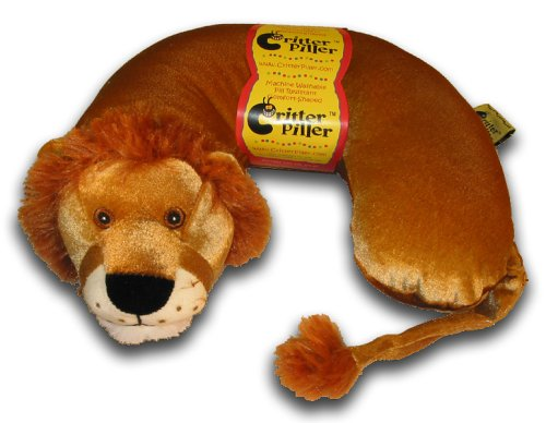 Critter Piller Kid Travel Buddy and Comfort Pillow - Hypoallergenic and Safe-to-Use