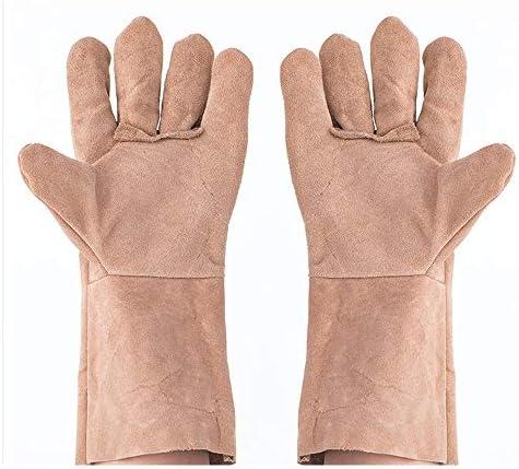 労働保護作業用手袋 労働保険の手袋長い耐摩耗性絶縁火傷防止作業用手袋、10ペア (Color : Random delivery, Size : XL)
