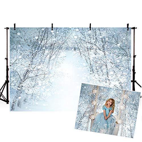 Comophoto White Snow Backdrop World Nature Winter Wonderland 8ftx6ft