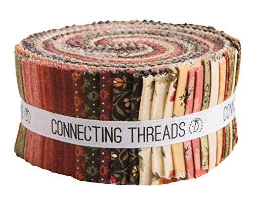 Connecting Threads Print Collection Precut Quilting Fabric Bundle (Fleurs Dorées - 2.5