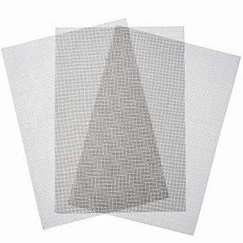 Amazon.com: 3 láminas de malla de alambre trenzado de acero ...