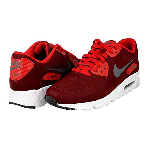 Nike Men's Air Max 90 Ultra Essential Running Shoes, Team Red/Dark Grey/University Red/White, 7.5 M US
