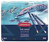 Derwent Inktense Pencil Set, Assorted Color, 24-Tin