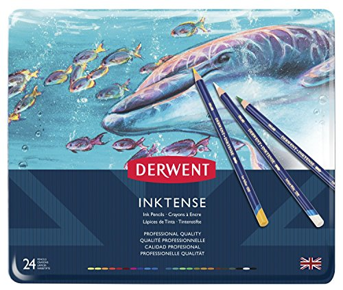 Derwent Inktense Pencil Set, Assorted Color, 24-Tin by Derwent