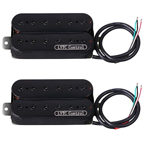 Paul Guitar Les Gibson Custom (ASCENDAS HP5 Double-conductor Wire Electric Guitar Humbucker Pickup for Gibson Les Paul Replacement (Bridge&Neck))