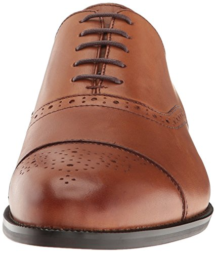 Steve Madden Mens Sovren Smoking Oxford Tan Läder