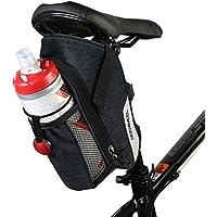 Allnice Bike Saddle Bag, 1.8L Waterproof Bike Seat Bag Mountain Road MTB Bicycle Saddle Bag with Tail Light