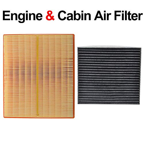 Combo Set Engine Pollen Cabin Activated Carbon Air Filter Fits For Toyota Prius XW30 V Lexus CT200H NX300H 1.8L 2.5L 17801-37020 87139-YZZ08 ()