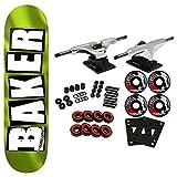 Baker Skateboard Complete Brand Logo Green Foil 8.5'