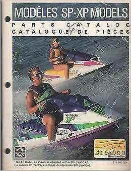 1991 SEA DOO WATERCRAFT SP XP PARTS MANUAL P N 219 800 003 756 Paperback
