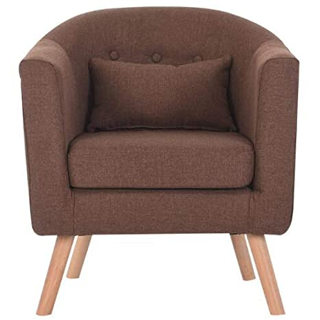 Terrific Glenmore Fabric Tub Chairs For Living Room Linen Armchair Bucket Chair Office Chair Modern Style Brown Jrg1 Ibusinesslaw Wood Chair Design Ideas Ibusinesslaworg