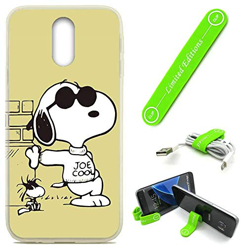 [해외][Ashley Cases] for LG Arena 2  K30 2019  Escape PlusTribute Royal Cover Case SkinFlexible Phone Stand - Peanuts Snoopy Sunglasses / [Ashley Cases] for LG Arena 2  K30 2019  Escape PlusTribute Royal Cover Case SkinFlexible Phone Sta...