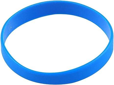 Vitalite - Pulseras de Silicona para Adultos, 100 Unidades, Azul: Amazon.es: Juguetes y juegos