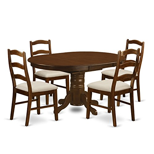 East West Furniture KEHE5-ESP-C 5 Piece Set Kenley Dining Table with One 18