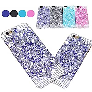 WQQ Colored Drawing Mandala in Front PC Back Cover for iPhone 6 Plus(Assotted Color) , Rose