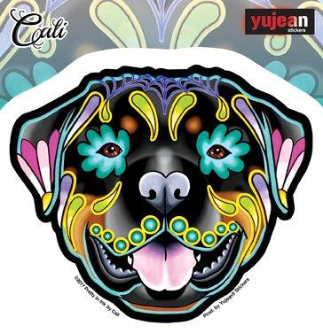 "Cali's Rottweiler, Officially Licensed Original Artwork, 5"" x 4.3"" - Sticker DECAL"