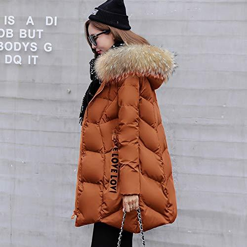 Longue Épais En D'hiver Vêtements Coton Coton Pain Clothing Femmes Pour Couleur Minces Caramel Veste U8HwnqEd