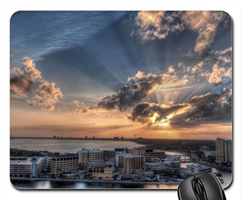 Sunset Tampa Bay - Tampa Bay Sunset Mouse Pad, Mousepad (Beaches Mouse Pad)