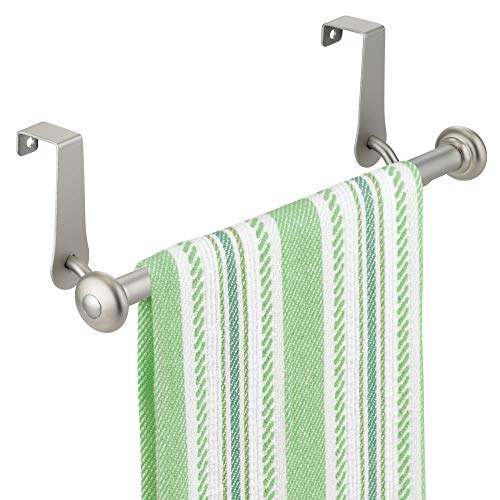 InterDesign York Over-the-Cabinet Kitchen Dish Towel Bar Holder - Satin