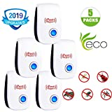 Ultrasonic Pest Repeller,5 Packs Pest Control Ultrasonic Repellent - 2019 Newest Electronic Pest