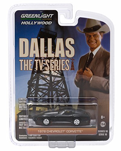 1978 CHEVROLET CORVETTE from the classic television show DALLAS Greenlight Collectibles 1:64 Scale * GL Hollywood Series 10 * Die Cast Vehicle