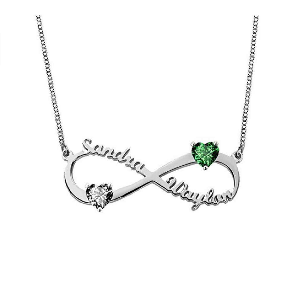 Boknight Custom Made Personalized Mothers Necklace Engraved with Childrens Names