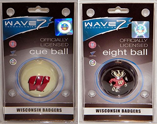 Wisconsin Badgers Logo Cue and 8 Ball Package - NCAA Officially Licensed