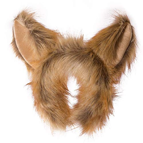 Wildlife Tree Plush Fennec Fox Ears Headband Accessory for Fennec Fox Costume, Cosplay, Pretend Animal Play or Safari Party Costumes -