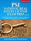 PSI National Real Estate License Exam Prep: A Study Guide with 465 Test Questions and Answers Explanations (6 Practice Tests, 3 for Brokers and 3 for Salespersons)