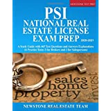 PSI National Real Estate License Exam Prep: A Study Guide with 465 Test Questions and Answers Explanations (6 Practice Tests,