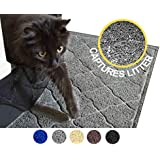 "AMZ Emp Large Cat Litter Mat - 35"" x 23"" - Soft Scatter Control Rug -Durable - Non-Toxic"