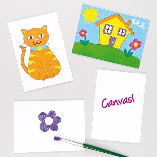 Baker Ross Pannelli di tela da dipingere e decorare, per bambini (confezione da 5)