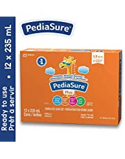 Pediasure Plus (with Fibre), Formulated Liquid Diet, 235-ml Can, Vanilla, 12-pack, 5688 mL
