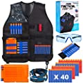 TEPSMIGO Kids Tactical Jacket Vest Kit for Nerf N-Strike Gun Wars (Size: S, Gift Box Wrapped, Suits 5+ Years boy)