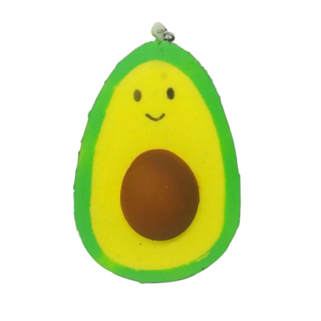 Squishy Toy, Naladoo 1Pc Smile Avocado Cake Scented Squishy Slow Rising Squeeze Toys Jumbo Collection IU32566436436
